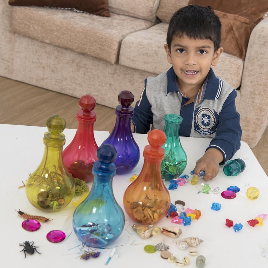 Messy Playroom: Buy Potion Bottles Today
