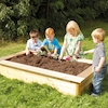 Wooden Rectangular Sandbox and Planter  small