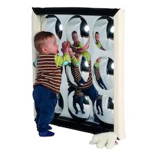 Black and White Soft Frame Bubble Mirror 150cm  medium