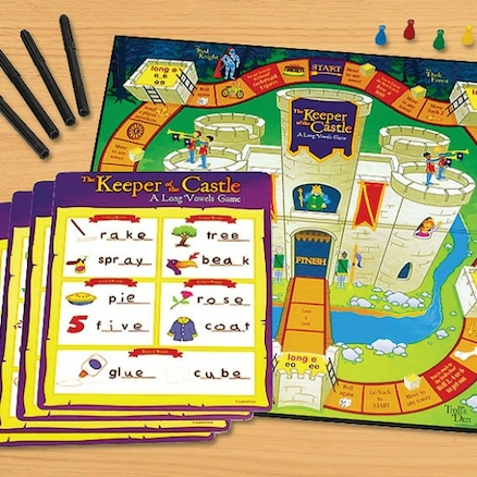 Keeper Of The Castle Long Vowels Board Game  large