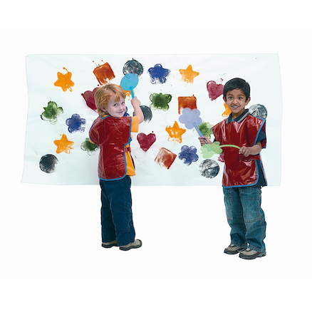 Fun Shapes Plastic Paint Swatters 24pk  large