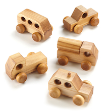 Small World Mini Wooden Vehicles 5pk  medium