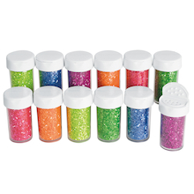 Neon Glitter Jar Assortment 20g 12pk  medium
