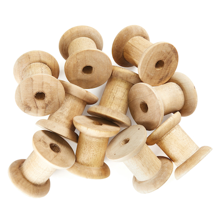 Wooden Craft Spools 10pk  large