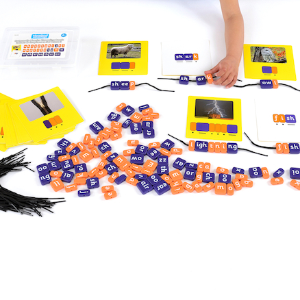 Phonics Threading Beads - Phase 3 Set  large