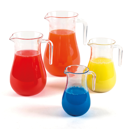 Clear Plastic Jug Set 4pk  large