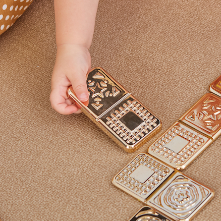 Metallic Matching Domino Set  large