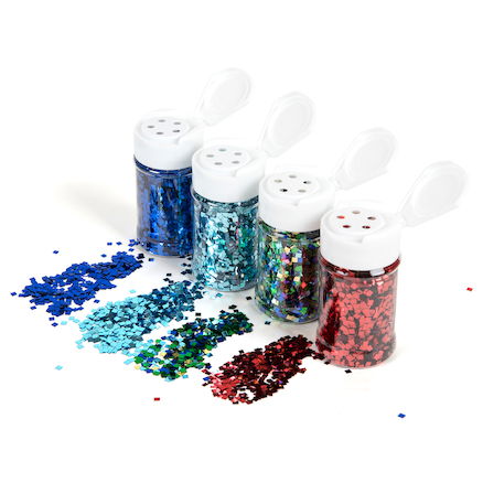 Square Assorted Glitter Class Pack 100ml 10pk  large