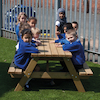 Rectangular Wooden Picnic Table  small