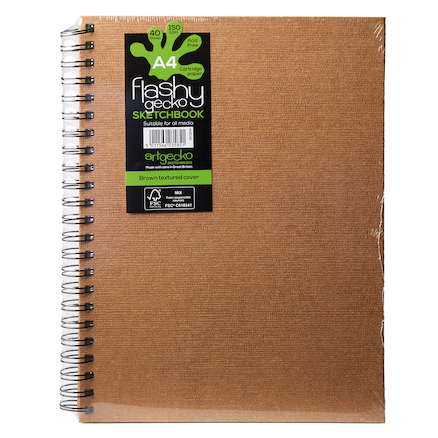 Flashy Gecko Sketchbooks A3 150gsm 5pk  large