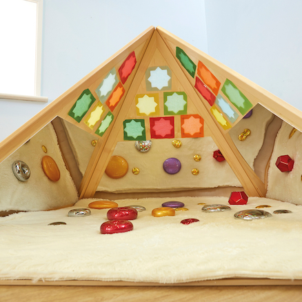 Lovely Learning Location Wooden Pyramid Den  large