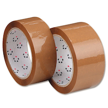 Brown Parcel Tape Rolls 50mm x 66m  medium