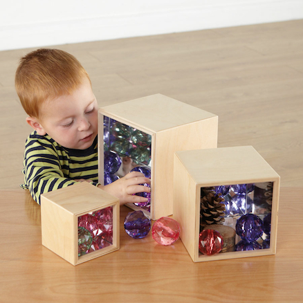 Wooden Mirror Boxes 3pk  large