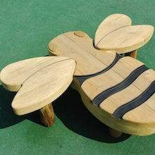Outdoor Wooden Bee Seat W120 x L100cm  medium