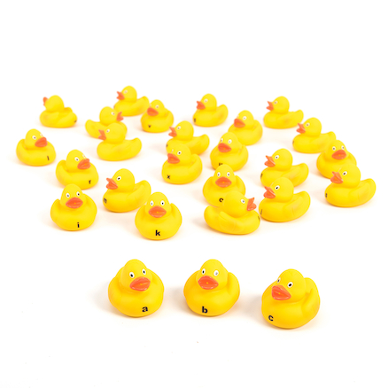 Lowercase Alphabet Rubber Ducks 26pk  large