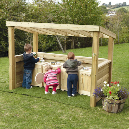 Outdoor Wooden Role Play Centre
