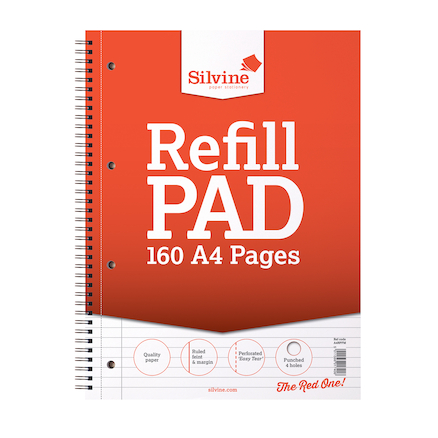 A4 Twin Wire Lined with Margin Refill Pad  large