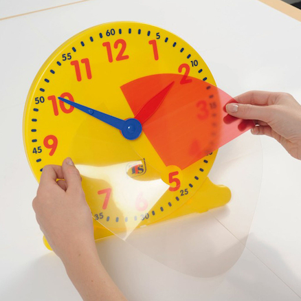 TTS Colourful Classroom Clock 1pk  large