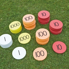Outdoor Place Value Foam Counters 80pcs  medium