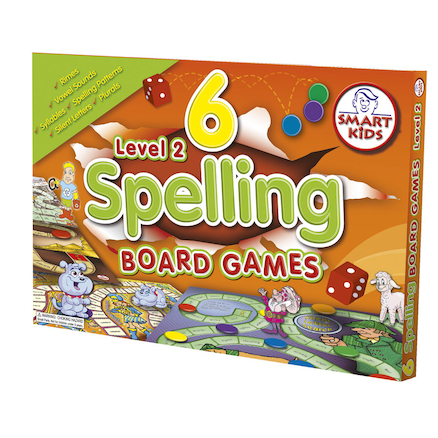 6 Spelling Board Games \- Level 2  large