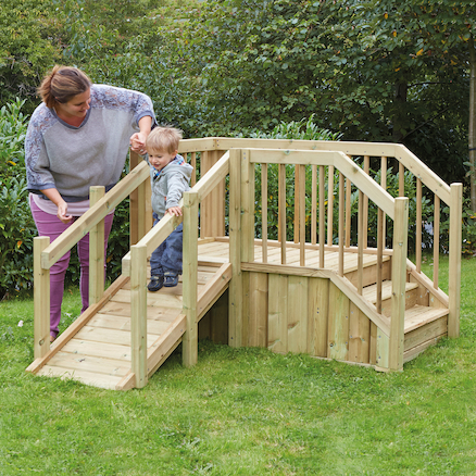 Outdoor Toddler Ramp and Steps  large