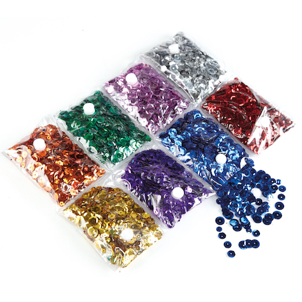 Assorted Super Sequins 240g  large