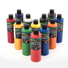 Chromacryl Acrylic Essentials Paint 12pk  medium