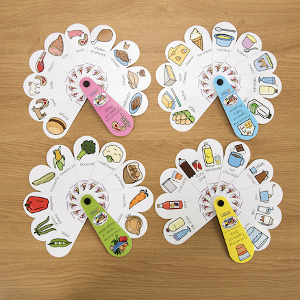 Food and Drink Petal Fans 4pk  large