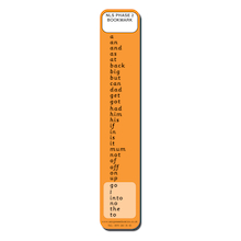 High Frequency Word Bookmarks Phase 2  medium