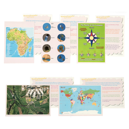Thinking... Maps and Mapping Skills Cards  large