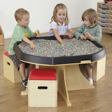 Active World Table with Seating  medium