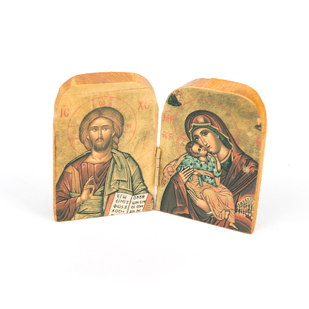 Resin Christian Icons 2pk  large