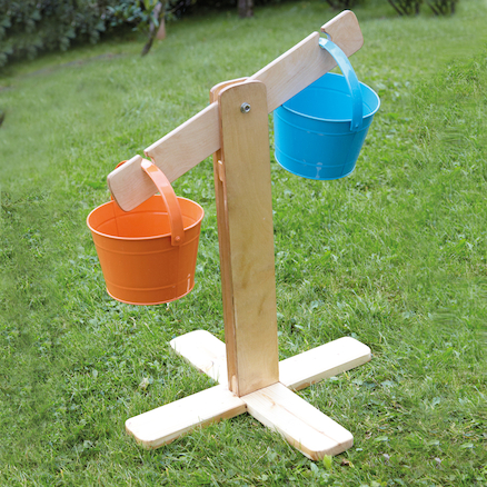 Outdoor Wooden Buckets and Scales Set  large