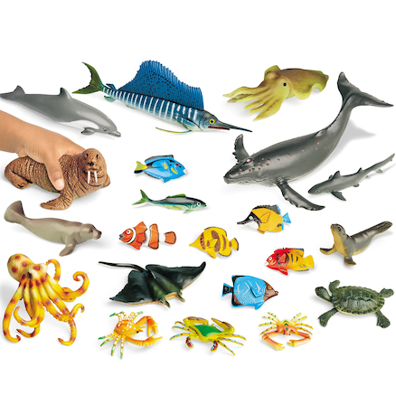 Small World Ocean Animal Collection 21pcs  large
