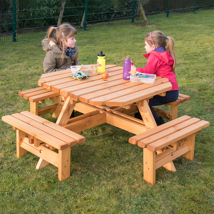 Octagonal Junior Height Picnic Bench  large