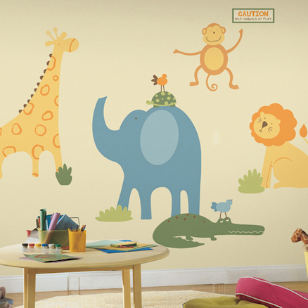 Safari Animals Wall Sticker Decoration  large