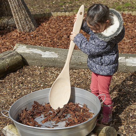 Large Outdoor Wooden Spoon  large