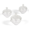 Bevelled Acrylic Treasure Acrylic Dish & Lid 3Pack  small