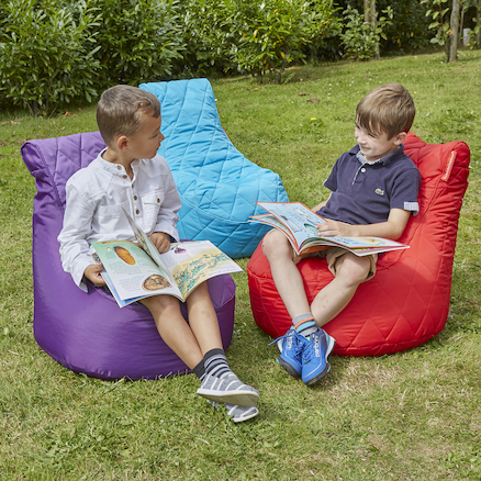 Quilted Pod Bean Bag Chairs  large