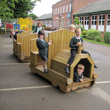 Outdoor Wooden Express Train  medium