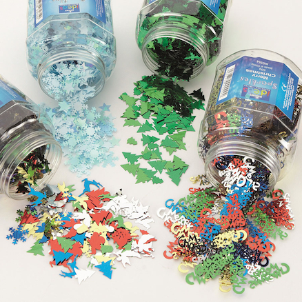 Christmas Sequins Shaker Set Assorted 50g 4pk  large
