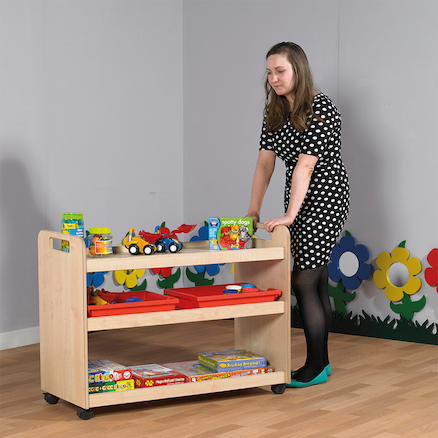 Multi Functional Wooden Trolley  large