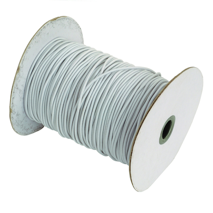 White Elastic Roll 92m  large