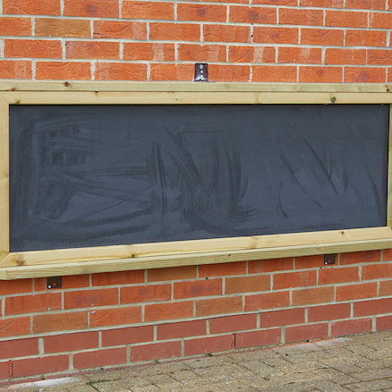 Wall Mounted Chalkboard in Wooden Frame  large