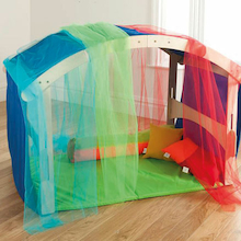 Indoor/Outdoor Rainbow Wooden Den and Accessory Kit Offer  medium