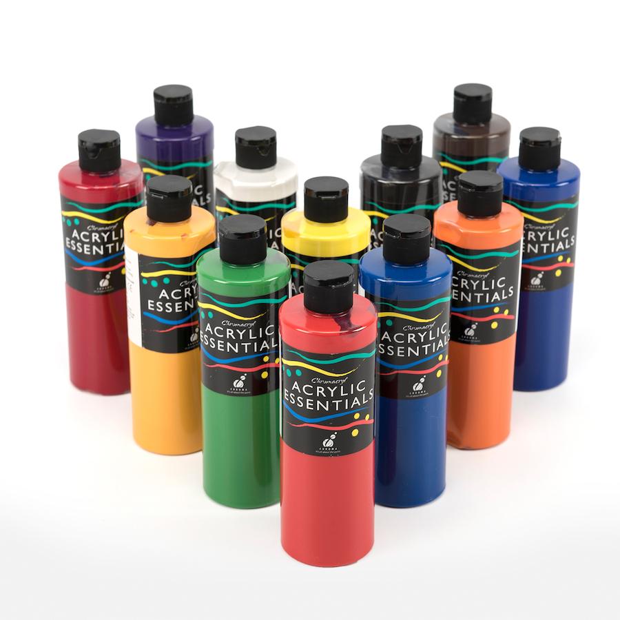 Buy Chromacryl Acrylic Essentials Paint 500ml 12pk Tts
