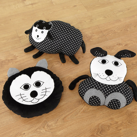 Baby Black and White Animal Cushions  large