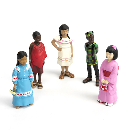 Small World Plastic Multicultural Figures  large