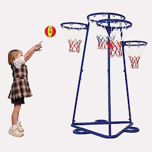 Four Hoop Basketball Net Skill Trainer  medium