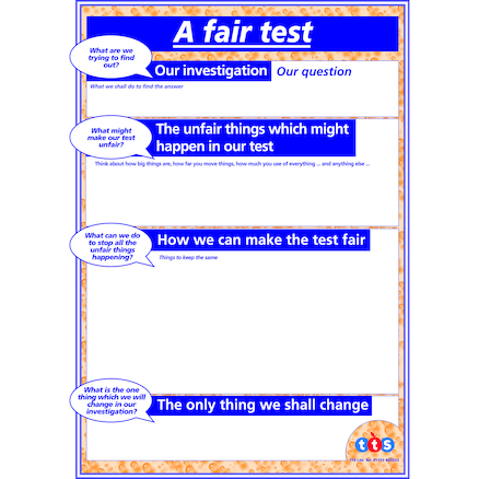 Science Writing Frames KS1 A2 Posters 6pk  large